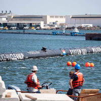 The Ocean Cleanup project sails out to sweep Pacific plastic