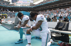 'Wow, NFL first game ratings are way down' - Kneeling protests resume as Trump warns of ratings fall
