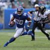 The Giants' rookie running back scores a 68-yard TD in the first game of his career