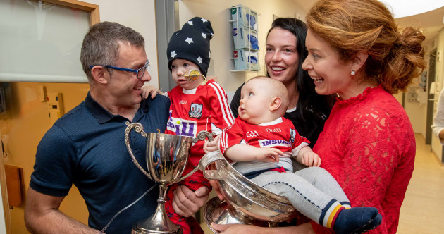 In pics: Cork's All-Ireland heroes bring the O'Duffy Cup to Crumlin Children's Hospital