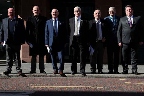 Seven of the so-called 'Hooded men', July 2018.