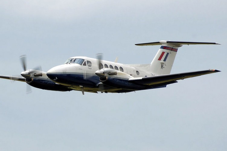 File photo of a Beechcraft Super King Air 200. The Irish Air Corps' model is being sold off after 29 years of duty.