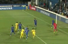 Gheorghe Hagi's young fella scored directly from a corner last night