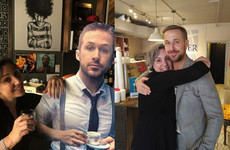 Ryan Gosling visited a cardboard cutout of himself after a café asked him to