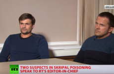 Russian suspects in Salisbury poisoning say they were in UK as tourists