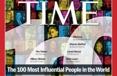 Items to note: TIME's 100 most influential people in the world