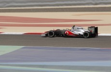 Hamilton tops first practice in Bahrain