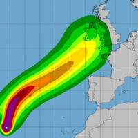 Storm Helene to bring 'short interval intense rain' as it hits Ireland