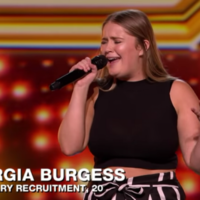 A girl named Georgia Burgess auditioned for the X Factor and well, we're all thinking the same thing