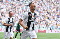 After 333 minutes of frustration, Cristiano Ronaldo gets off the mark for Juventus
