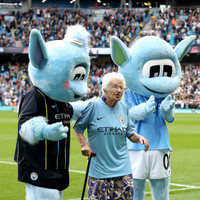 Watch: 102-year-old Man City supporter becomes Premier League's oldest mascot