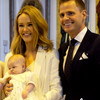 Aoibhín Garrihy upcycled her bridesmaid dresses to create a lovely christening gown for baby Hanorah