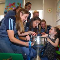 Dublin's All-Ireland heroes bring the Brendan Martin Cup to Crumlin Children's Hospital