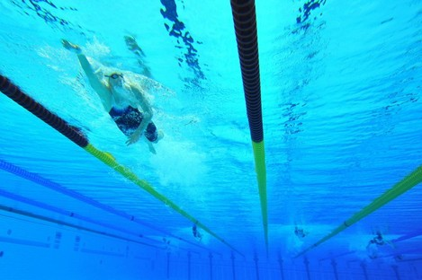 An aid to help swimmers with vision impairment is one of the designs going on display this Thursday.