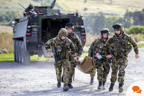 File photo, members of the Irish Defences forces during a training exercise in the Glen of Imaal in County Wicklow.