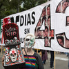 A mobile tractor-trailer morgue carrying 273 dead bodies has sparked outrage in Mexico