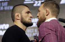 McGregor and Khabib come face to face in presser that resembles bad sitcom with no laugh track