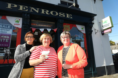 Anne Penrose (centre) with (l-r) employees Jacqui O'Meara and Annie Mulligan.