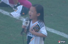 7-year-old impresses Zlatan with her powerful rendition of US anthem
