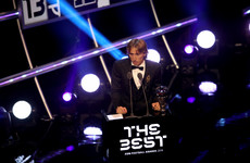 Croatia's Luka Modric wins Fifa best player of the year award