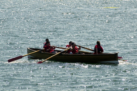 File photo, scouts on a rowing trip.