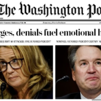 'A Supreme Clash' - America's newspapers reflect a nation transfixed by the Ford/Kavanaugh hearing