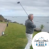 Complaints after Peter Casey tweets video of himself driving golf ball into water