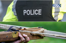 Three men arrested after car driven repeatedly at front of house and crossbow fired
