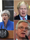 Boris brands May's Brexit plan as 'deranged' while Davis describes the Irish border issue as 'exaggerated'