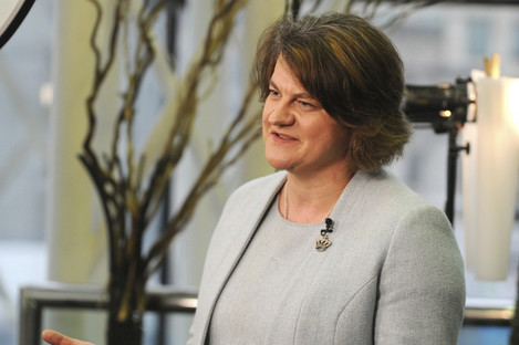 Leader of the Democratic Unionist Party Arlene Foster seen at the Conservative Party Conference.