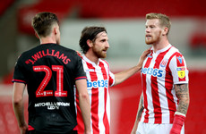 One month on from double wrist break McClean returns to action and provides assist for Stoke