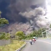 Volcano erupts on same Indonesian island as earlier fatal earthquake