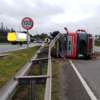Very heavy traffic on N7 in both directions after truck overturns