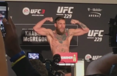 McGregor half a pound under limit as both fighters make weight for Las Vegas showdown