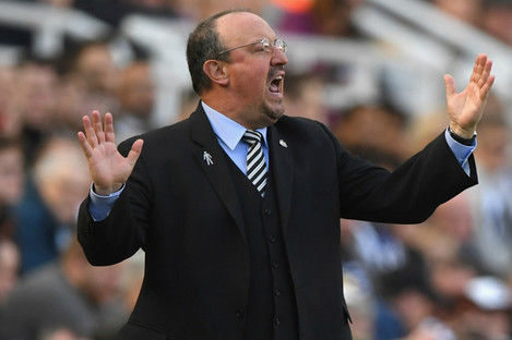 Newcastle manager Rafael Benitez.