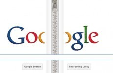 Why does Google have a giant zip running down its homepage today?