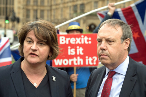 The DUP's Arlene Foster and Nigel Dodds.