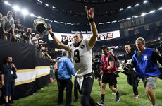 Brees breaks Manning's all-time passing record as Saints beat Redskins