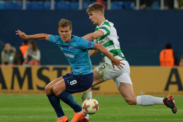 Kokorin (left) in action against Celtic during last season's Europa League.