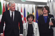 Leaders play down hope of Brexit breakthrough as Arlene Foster meets Michel Barnier
