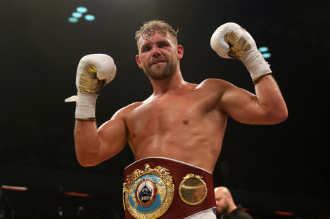 WBO middleweight champion Billy Joe Saunders.