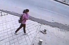 VIDEO: Girl rescued after falling through pavement in China