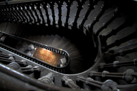 The staircase at Charleville Castle