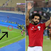 Pick that out! Mohamed Salah scores directly from a corner for Egypt during Africa Cup of Nations qualifier