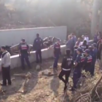 22 killed after vehicle carrying migrants plunges into river bed from highway in Turkey