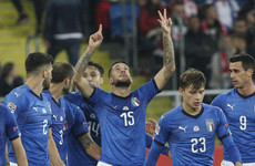 Last-gasp goal saves Italy, gives Mancini first competitive win