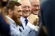 Conor McGregor throws pass for Cowboys before big Dallas win