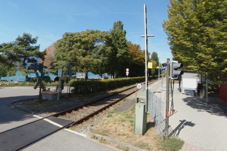 Train tracks at Sipplingen, southern Germany