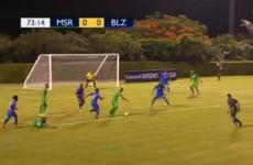 Montserrat - the world's 205th best team - won a match thanks to this cracker