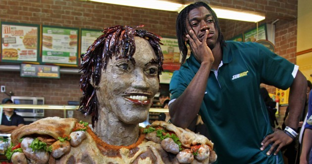 Here's your 'top NFL Draft prospect made out of Subway sandwiches' pic of the day